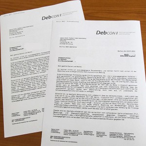 Filesharing und Verjährung - Forderung von debcon